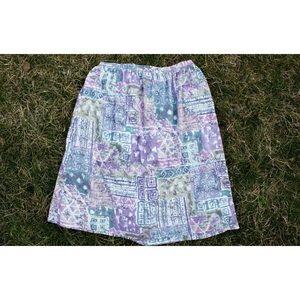 Alfred Dunner | Vintage 80's Tribal Print Skirt